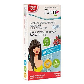 Daen Bandas depilatorias faciales cera fría aqua caja 16 uds Caja 16 uds