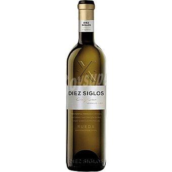 Diez Vino blanco verdejo 100% DO Rueda siglos Botella 75 cl