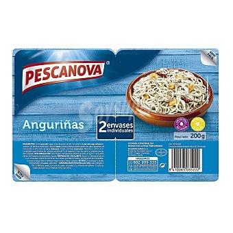 Pescanova Anguriñas cocinados ultracongelados Pack 2 bandejas x 100 g