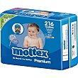 Toallitas Premium infantiles con aloe vera pack 3x2 paquete 216 unidades 216 unidades Moltex