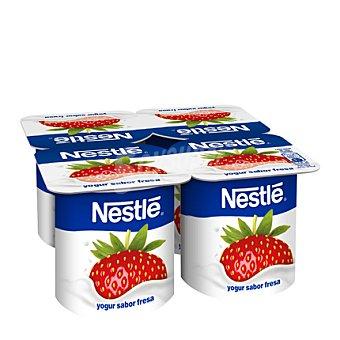 Nestlé Yogur sabor fresa 4 unidades de 120 g