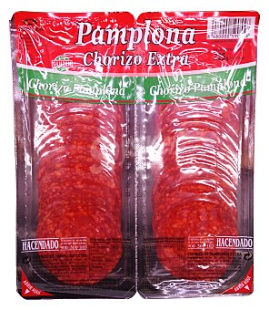 Hacendado Chorizo pamplona lonchas 2 x 112,5 g (225 g)