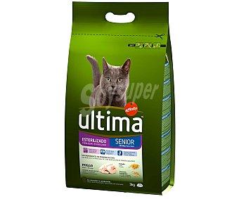 Ultima Affinity Pienso para gatos esterilizados Senior +10 sabor pollo Bolsa 3 kg
