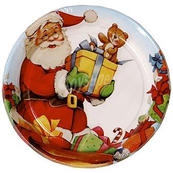 NV CORPORACION plato decorado Santa Claus 17 cm paquete 8 unidades 17 paquete 8 unidades