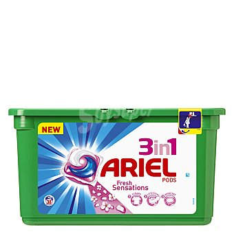 ARIEL Detergente maquina liquido 3 en 1 Pods envase 38 capsulas