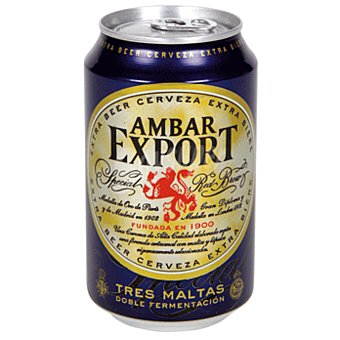 AMBAR EXPORT Cerveza rubia nacional Lata 33 cl