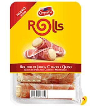 Campofrío Rollitos de Jamón Curado y Queso mozzarella 96 g