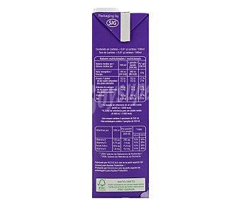 Auchan Leche desnatada sin lactosa 1 litro