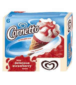 Frigo Cornetto Conos de fresa Cornetto Clássico Caja de 6 unidades
