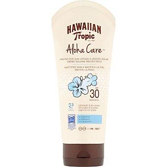 Hawaiian Tropic Aloha Care loción solar matificante SPF-30 Tubo 180 ml