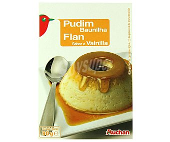 Auchan Flan sabor a vainilla 90 gramos