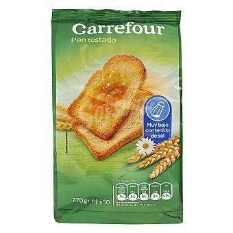 Carrefour Pan tostado sin sal 270 g