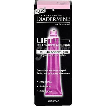 Diadermine Rellenador de arrugas lift+ roll-on anti-arrugas para ojos labios y rostro Dr. Caspari Envase 15 ml