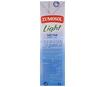 Zumosol Nectar de piña Ligero sin azúcar Brik 2 litros