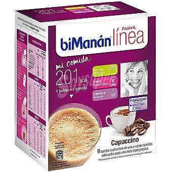 Bimanan LINEA Mi Comida Capuccino batidos sustitutivos caja 270 g 9x30g