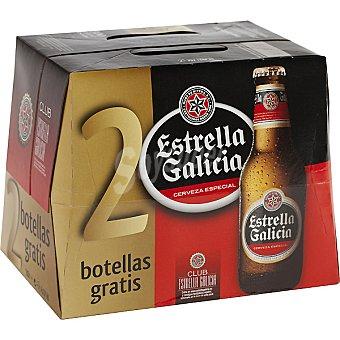 Estrella Galicia Cerveza rubia nacional especial pack 10 botellas 25 cl Pack 10 botellas 25 cl