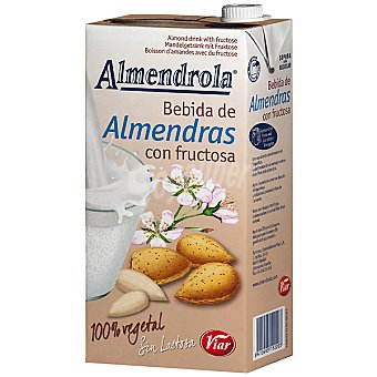 Almendrola Bebida de almendras con fructosa 100% vegetal sin lactosa Envase 1 l