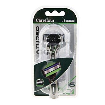 Carrefour Maquinilla de afeitar 6 hojas G6 turbo 1 ud