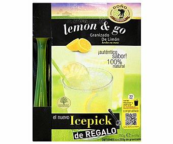 LEMON&GO de DOÑO Granizado de Limón 100% natural con Icepick de regalo 6 Unidades de 250 Gramos