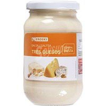 Eroski Salsa 3 quesos Frasco 260 g