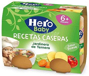 Hero Tarritos de jardinera de ternera desde 6 meses Pack 2 u x 190 g