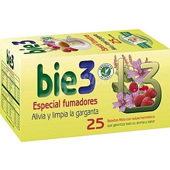 BIE 3 Infusión especial fumadores alivia y limpia la garganta producto natural Envase 25 unidades