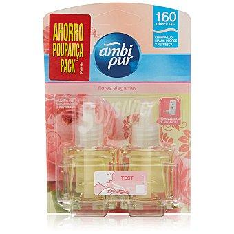 AmbiPur Ambientador Eléctrico Flores Elegantes 2 recambios.