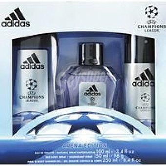 Adidas Colonia para hombre-gel-desodorante Uefa Pack 1 unid