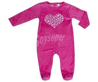 In Extenso Pijama pelele de bebe aterciopelado, color fuxia, talla 92