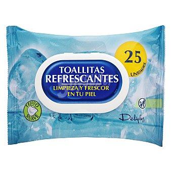 Deliplus Toallitas húmedas refrescantes tejido suave Paquete 25 u