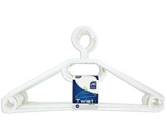 MONDEX Perchas de plástico con gancho giratorio 10 unidades de 40 cm