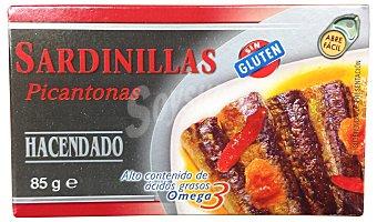 HACENDADO Sardinillas en salsa picantona Lata 85gr. peso escurrido