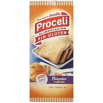 Proceli Pan Biscotes Sin Gluten proceli (3 packs de 4 unidades) 150 Gr