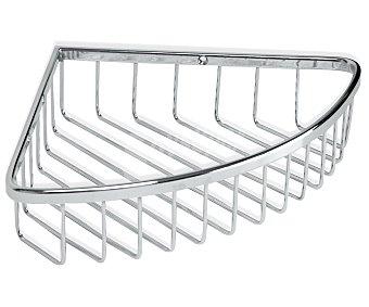 Tatay Cesto rinconera de acero inoxidable para baño, 27x20,5x5 centímetros 1 Unidad