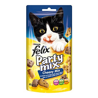 Felix Purina Snack Gato Party Mix Queso 60 gr
