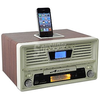 ANSONIC ON THE AIR-20IP Base vintage para ipod y iphone con radio