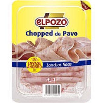 ElPozo Chopped de pavo lonchas finas envase recerrable 180G