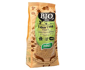 SANTIVERI Fideo fino integral de agricultura ecológica 500 gramos
