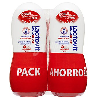 LACTOVIT Lactourea Desodorante roll-on reparador pack 2 envase 50 ml Pack 2 envase 50 ml