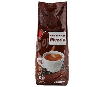 Auchan Café en grano mezcla (café de tueste natural 80% y café torrefacto 20%) 1 kilogramo