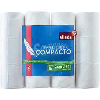Aliada Papel higiénico blanco compacto 2 capas Paquete 24 rollos