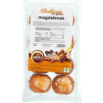 Airos Magdalenas sin gluten y sin lactosa Envase 300 g