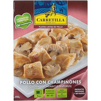 Carretilla Pollo con champiñones Bandeja 250 g
