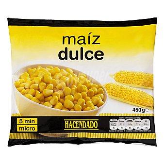 Hacendado Maiz dulce grano congelado Paquete de 450 g