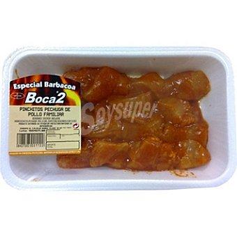 BOCA2 Pinchitos de pechuga de pollo peso aproximado Bandeja 500 g