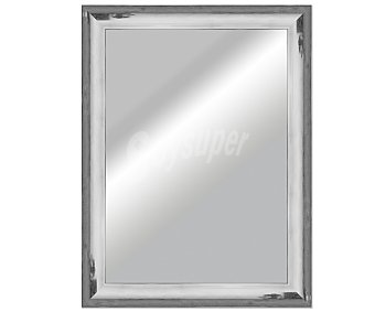 Artema Espejo plano rectangular, marco de madera con acabados en color gris, con efectos de degradado, 50x70 centímetros 1 unidad.