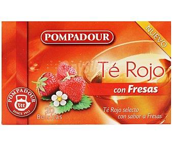 Pompadour Té rojo con sabor a fresas 20 sobres de 35 gramos