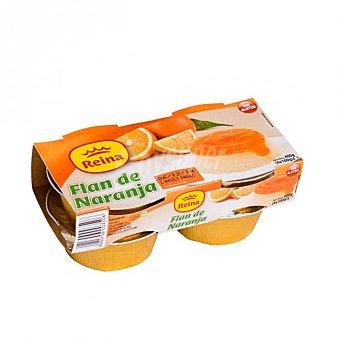 Reina Flan de naranja Pack de 4x100 g