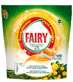 Fairy Lavavajillas Máquina Original Todo en Uno en cápsulas Pack Poupanca Cítricos 100 ud