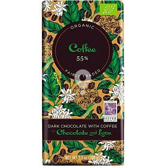 Chocolate negro con café 55% cacao